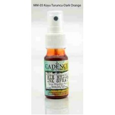 Cadence Mix Media Ink Spray 25ml Dark Orange MM05