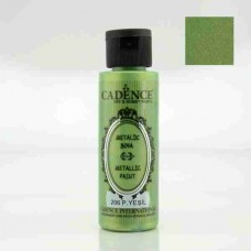 Cadence Diamond Metallic Paint 70ml Bright Green 206