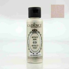 Cadence Diamond Metallic Paint 70ml Magnolia 229
