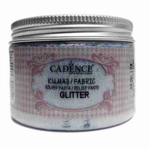 Cadence Fabric Glitter Relief Paste 150ml Silver 15835