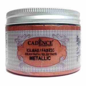 Cadence Fabric Metallic Relief Paste 15927 Copper