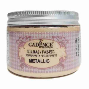 Cadence Fabric Metallic Relief Paste 15942 Champagne