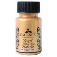 Cadence Dora Metallic Paint 50ml Brilliant Gold 121