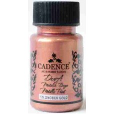 Cadence Dora Metallic Paint 50ml Rose Gold 128