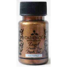 Cadence Dora Metallic Paint 50ml Topaz 130