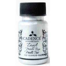Cadence Dora Metallic Paint 50ml Silver 132