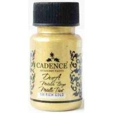 Cadence Dora Metallic Paint 50ml Gold 136