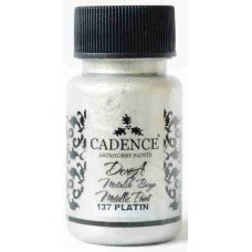 Cadence Dora Metallic 50ml Platinum 137