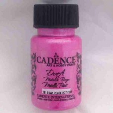 Cadence Dora Metallic 50ml Hot Pink 191