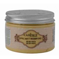Cadence Shabby Chic Relief Paste 150ml Light Yellow S2