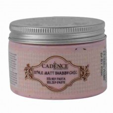 Cadence Shabby Chic Relief Paste 150ml Baby Pink S8