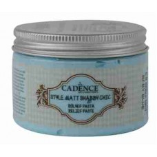 Cadence Shabby Chic Relief Paste 150ml Baby Blue S10