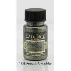 Cadence Dora Textile Metallic Paint 50ml Anthracite 1138