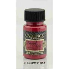 Cadence Dora Textile Metallic Paint 50ml Red 1133