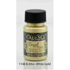 Cadence Dora Textile Metallic Paint 50ml White Gold 1148