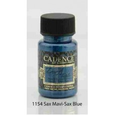 Cadence Dora Textile Metallic Paint 50ml Sax Blue 1154