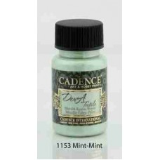 Cadence Dora Textile Metallic Paint 50ml Mint 1153