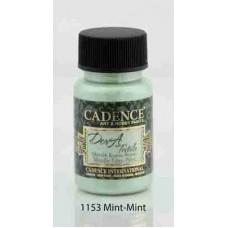 Cadence Dora Textile Metallic Paint 50ml Mint 1153