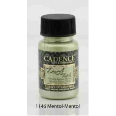 Cadence Dora Textile Metallic Paint 50ml Menthol 1146