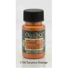 Cadence Dora Textile Metallic Paint 50ml Orange 1156