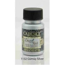 Cadence Dora Textile Metallic Paint 50ml Silver 1132