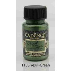 Cadence Dora Textile Metallic Paint 50ml Green 1135
