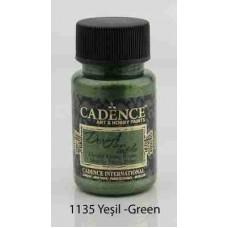 Cadence Dora Textile Metallic Paint 50ml Green 1135