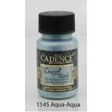 Cadence Dora Textile Metallic Paint 50ml Aqua 1145