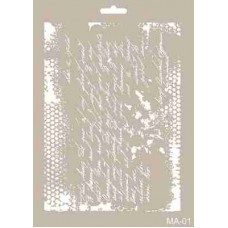 Cadence Mix Media Stencil Collection A4 Template CADMA01