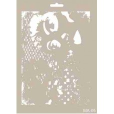 Cadence Mix Media Stencil Collection A4 Template CADMA05