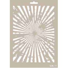Cadence Mix Media Stencil Collection A4 Template CADMA11