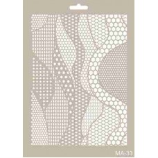 Cadence Mix Media Stencil Collection A4 Template CADMA33