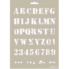 Cadence Mix Media Stencil Collection A4 Template CADMA61