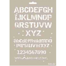 Cadence Mix Media Stencil Collection A4 Template CADMA62