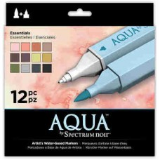 Spectrum Noir Aqua Markers 12/Pkg Essentials SPECNAQ ESS