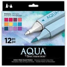 Spectrum Noir Aqua Markers 12/Pkg Primary SPECNAQ PRI
