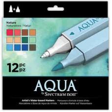Spectrum Noir Aqua Markers 12/Pkg Nature SPECNAQ NAT