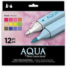 Spectrum Noir Aqua Markers 12/Pkg Floral SPECNAQ FLO