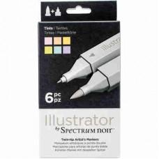 Spectrum Noir Illustrator Markers 6/Pkg Tints ILLTIN