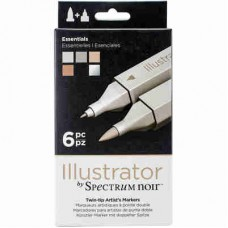 Spectrum Noir Illustrator Markers 6/Pkg Essential ILLESS