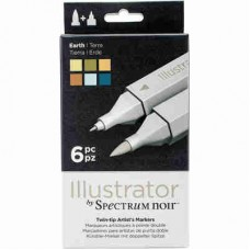 Spectrum Noir Illustrator Markers 6/Pkg Earth ILLEAR