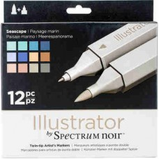 Spectrum Noir Illustrator Markers 12/Pkg Seascape ILL12SEA