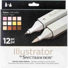 Spectrum Noir Illustrator Markers 12/Pkg Figure ILL12FIG