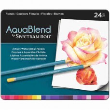Spectrum Noir AquaBlend Pencils 24/Pkg Florals ABFLO24