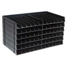 Spectrum Noir Black Storage Shelf (6 Pack) Holds 72 pens