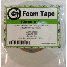 Crafts4U 12mm x 4m Foam Tape 2mm thick 30004