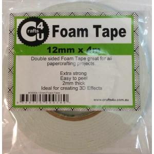 Crafts4U 12mm x 4m Foam Tape 2mm thick 30004