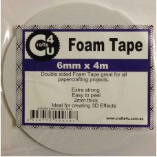 Crafts4U 6mm x 4m Foam Tape 2mm thick 30005