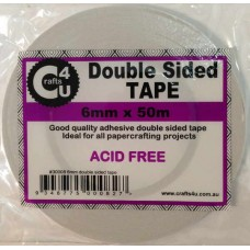 Crafts4U 6mm x 50m Double Sided Tape 30008