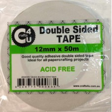 Crafts4U 12mm x 50m Double Sided Tape 30009